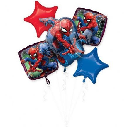 Spider Man Helium Balloon Bouquet
